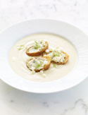Apple-Fennel Soup with Blue Cheese Toasts Recipe