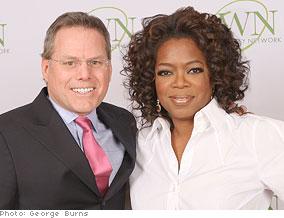 Oprah and David Zaslav