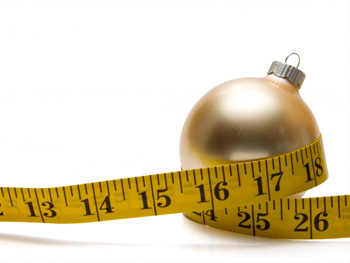 Holiday ornament and measuring tape
