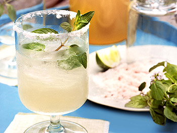 Fresh Mint Margaritas