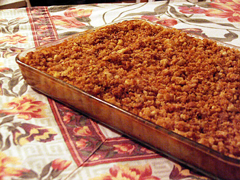 Corn Pudding with Crunchy Crumb Topping