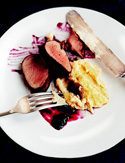 Pork Tenderloin with Blueberry Barbecue Sauce
