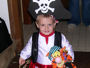 RJ dressed as a pirate