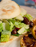 Greek Salad Sandwich with Creamy Lemon Dressing