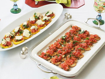 Cristina Ferrare's recipe for Bruschetta with Crostini or Grilled Polenta