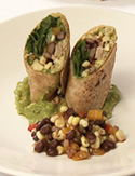 Cristina Ferrare's Roasted Chicken Wraps with Black Bean Salsa and Guacamole
