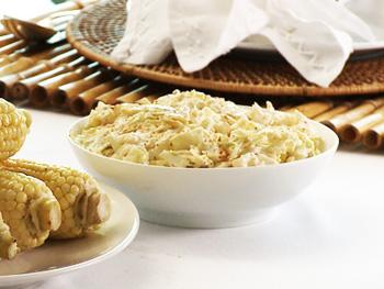 Cristina Ferrare's recipe for Crunchy Coleslaw with Creamy Lemon Poppy Seed Dressing