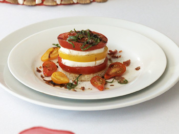 Cristina Ferrare's recipe for a Tomato Tower