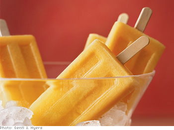 Cantaloupe and Citrus Pops