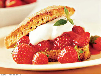 Cardamom Strawberry Shortcake with Cream