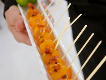 Cantaloupe Lollipops with Crispy Prosciutto