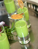 Chilled Pea Soup Shooter with Fresh Mint