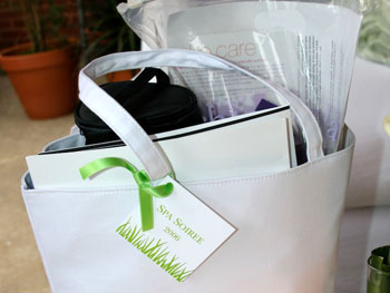 A spa goodie bag
