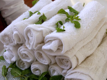 Steamed towels