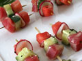 Tuna and Watermelon Skewers