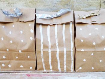 Cookies in brown bags