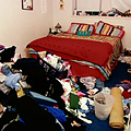 Declutter your bedroom.