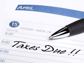 Taxes due reminder