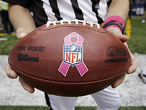 The NFL goes pink for Breast Cancer Awareness month.