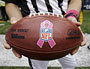 Football Players Wear Pink for Breast Cancer Awareness