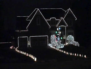 Kyle's holiday light display