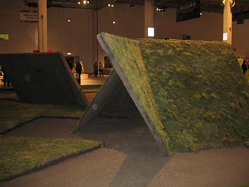 A green roof, made from a design by Buckminster Fuller