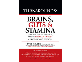 Turnarounds: Brains, Guts and Stamina by Peter McCann