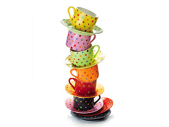 The Decor Home List: Polka Dot Cups :  home dishes polka teacup