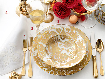 Midas Sets the Table: Metallic Table Setting :  fashion home furniture women