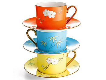 The Décor Home List: Handpainted China Teacup :  home o at home handpainted teacup