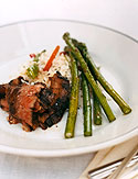 Marinated beef skirt steak