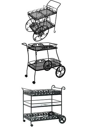 Neo-victorian bar carts