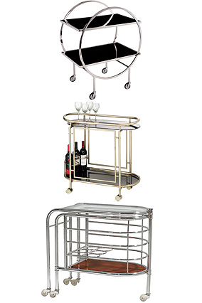 Deco bar carts