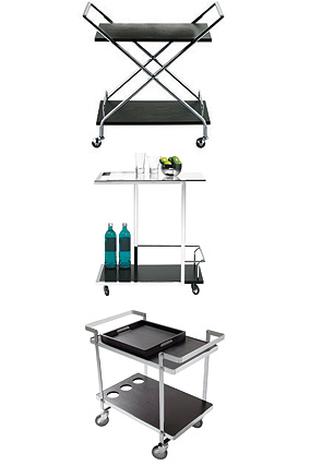 Minimalist bar carts
