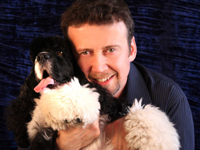 Billy Rafferty and dog