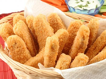 Chicken Strips with honey mustard sauce recipe