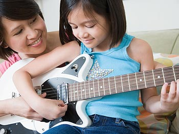 Take music lessons with your children.