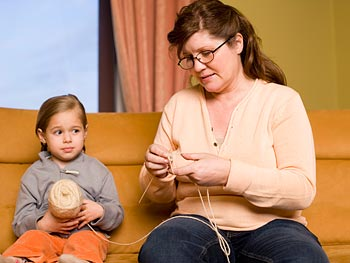 Alongside your kids, learn to sew, knit or crochet.