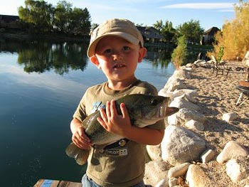 Pam's grandson with a big catch