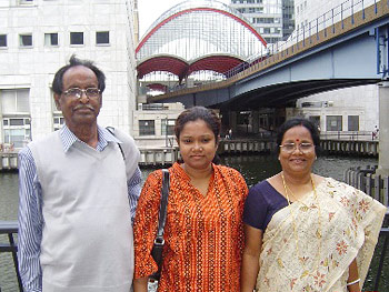 Rahi, her dad and mother