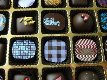 Different flavors of truffles
