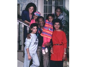 The Huxtables from The Cosby Show