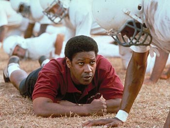 Denzel Washington stars in Remember the Titans.