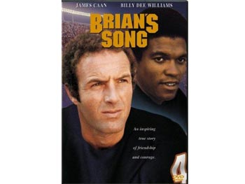James Caan and Billy Dee Williams star in Brian's Song.