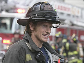 Denis Leary on the Rescue Me set