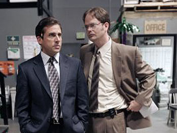 Dwight Schrute and Michael Scott on The Office