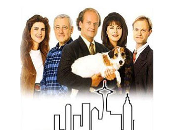 Eddie with the Frasier cast