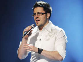 Danny Gokey on the American Idol Stage