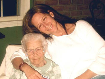 Sandra Magsamen and her grandmother