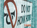 Don't honk.